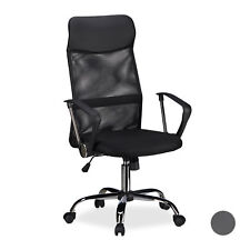 Office Desk Chair, Ergonomic Swivel Executive Chair with Castors, Black