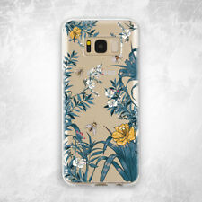 Floral Leaf Bee Silicone TPU Case Cover Samsung S6 S7 S8 S9 Plus Note 8 9