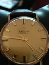 mans watch Marvin revue automatic gold cased working and keeping very good time