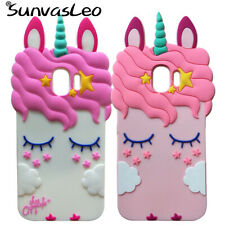 Case For Samsung Galaxy J2 Pro 2018 J250F 3D Unicorn Soft Silicone Phone Cover