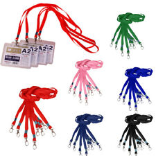 10x Polyester Lanyard ID Badge Holder Case Neck Strap Lobster Clasps