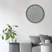 Modern Silent Wall Clock with Metal Frame for Home Decor House-warming Gifts