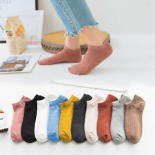 5-10 Pairs Womens Cotton Ankle Socks Soft Loafer Boat Multicolor Low Cut Socks