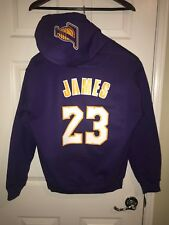 LA Los Angeles Lakers Lebron James Away Jersey Hoodie Hoody Hooded Sweatshirt