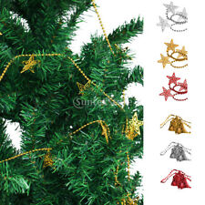 Christmas Festival Star Bell Xmas Tree Decorations Ornament Ball Chain Hanging