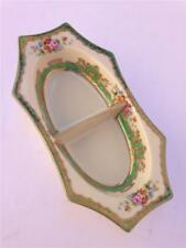 Vintage Noritake Ornate Hand Painted Divided Dish with Red M Mark - Japan