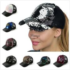 Unisex Casual Breathable Hollow Patchwork Sequin Baseball Cap WT88