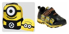 Despicable Me Stuart One Eye Minion Book Backpack Hat Included OR Sneakers Sz 10