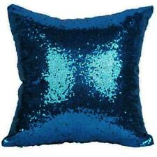 Cushion Cover Mermaid Sequin Glitter Pillow Case Solid Covers for Car Home Sofa