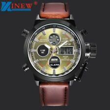 Mens Quartz Sport Military Army LED Watches Analog Stainless Steel Wrist Watch