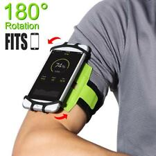 Armband Phone Earbud Holder Rubber Smartphone Accessories 180 Degree Rotatable