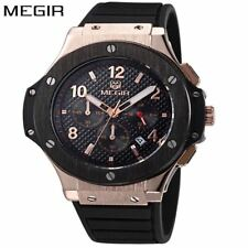 MEGIR Watch Men Gold Chronograph Sport Mens Watches Top Brand Luxury Military Qu