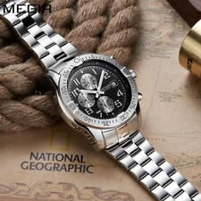 Megir Brand Fashion Chronograph Sport Watch Men Luxury Quartz Male Stainle