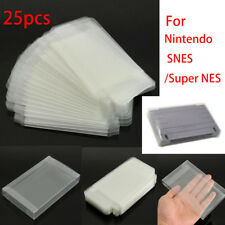25pc Game Plastic Cartridge Protector Cover Box Case For Nintendo SNES/Super NES
