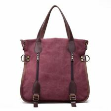 Women Canvas Material Solid Color Zipper Closure Casual Style Shoulder Bag