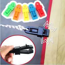 10pcs Camping Tent Clips for DIY Camping Hiking Bell Tent Awnings Wind Rope Clip