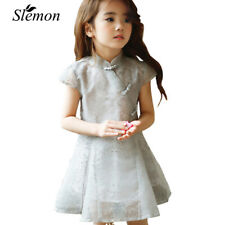 Girls Chinese Style Dress Elegant Kids Clothing Fashion Ball Gown Casual Wear