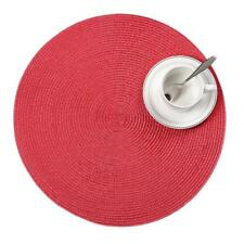 4pcs Round Weave Placemat Fashion Pp Dining Table Mats Disc Pads Bowl Pads