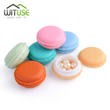 portable earring necklace jewelry pill storage boxes candy color macarons case