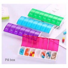 Plastic Mini Storage Container 7 Days Weekly Pill Cases Medicine Boxes