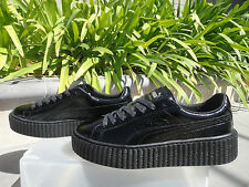 Fenty Puma by Rihanna, Cracked Patent Leather Black Creeper Wmn 6.5 7 7.5 or 8M
