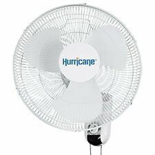 Wall Mount Fan Oscillating 16 Inch Adjustable Tilt And 3 Speed Settings For Home