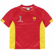 FIFA World Cup 2018 Spain T-Shirt Infants Red Football Soccer Tee Shirt
