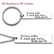 Husband Trucker Key Chains Stainless Steel Drive Safe Handsome Keyring Pendant