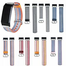 For Fitbit Charge 3 Woven Nylon Wristband Strap Watch Band Replacement Bracelet