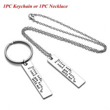 for Him Pendant Drive Safe Handsome Keyring Stainless Steel Trucker Key Chains