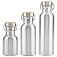 350/500/750ml Stainless Steel Outdoor Portable Water Cup Drink Bottle Camping