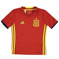 adidas Spain Home Jersey 2016 Juniors Red Football Soccer Fan Shirt Top