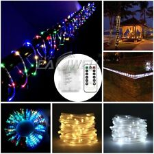 100 LED / 120 LED Rope Tube Light String Strip Battery Outdoor Xmas Party+Remote