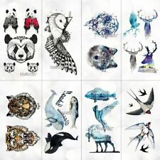 Unisex Temporary Tattoo Stickers Animal Pattern Waterproof Fake Hand Body Art