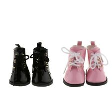 Dolls PU Leather Black Strape Shoes For American Girl 18inch Doll Kids Toys