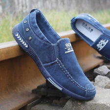 Fashion Denim Men Canvas Shoes male Summer Mens sneakers Slip On Casual