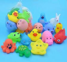 13pcs/lot Baby Bath Toys Animal Rubber Duck Bathroom Water Play Floating Squeeze