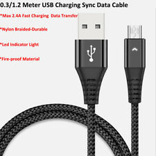 USB Cable Micro Type C Quick Charging Sync Data Cable Nylon Braided 0.3M 1.2M US