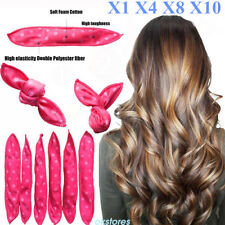 Magic Long Hair Curlers Leverage Rollers Spiral Ringlets lot KP6F