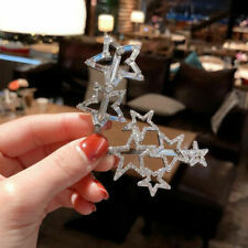 Women Jewelry Crystal Snowflake Hair Clips Stick Hairpin Hair Accessories