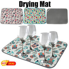 NEW 18 x 24 Inch Microfiber Dish Drying Mat Double-sided Design Pad for Kitchen