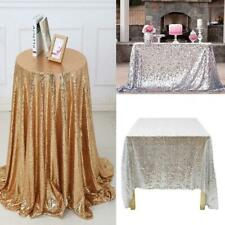 Wedding Table Cloth Glitter Sequin Tablecloth Party Engagement WT88 02
