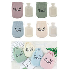 350ml Rubber Hot Water Bottle Bag Winter Warm Relaxing Heat/Cold Pack+Cover