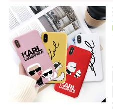 Karl Lagerfeld Phone Cases For iPhone X XS MAX X XR 7 6 6s 8 Plus Fashion Matte