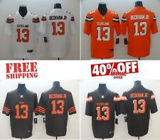 Free Shipping 2019 Cleveland Browns #13 Odell Beckham Jr. Men's Stitched Jersey