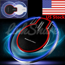 US Qi Wireless Charger Charging Pad For iPhone X 8 Samsung Galaxy S7 S6 Note 9 0