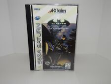 Batman Forever Arcade Sega Saturn - Replacement manual, insert and case