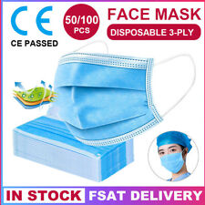 50pcs Personal Health Pollen Face Mask Cover Breathable For men & women