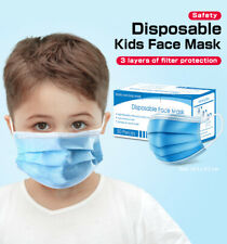 Fast Shipping 50PCs Kids Mask 3-Layers Non-woven Personal Mouth Masks