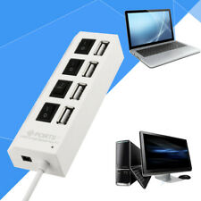 4 Port USB 2.0 Multi High Speed HUB Splitter Expansion Desktop PC Laptop Adapter